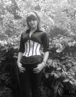 Tattoo Print Waspie Corset 5 by happyhippybassist