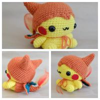 Pikazard Amigurumi by cyellow
