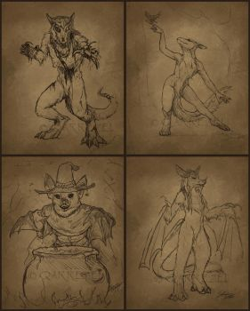 Feb 2 2014 Sketch Night - Witches by ShanziBeast