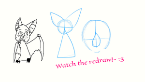 How to draw Pear the Bat by MoonlightEcko