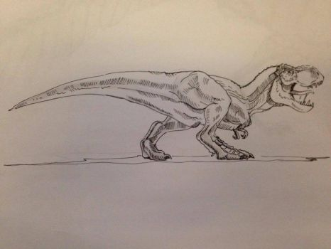 Day #9 Inktober - Quick Rex by Ginger-Ketchup