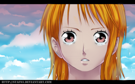 One Piece - Nami's crying by staf93