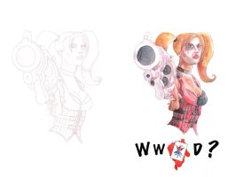 WWJD? Harlee Quinn by sequentialartist