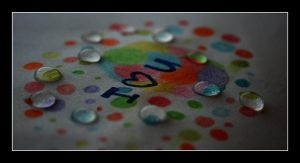 I love u colorful water drops by C-Natalie