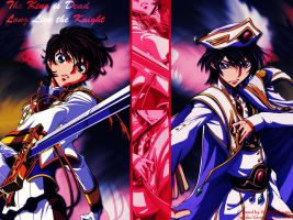 Emperor Lelouch and Suzaku by EdgeofTomorrow