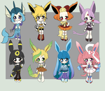 Eevelution Adoptables(2/8 open) by VainisArt