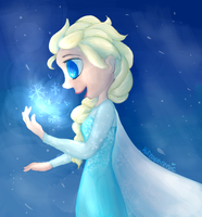 Queen Elsa by Kitzophrenic