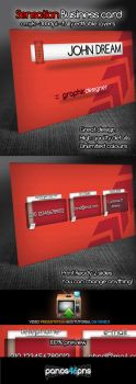 Sensation Business Card Free .psd by panos46