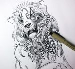 Patterned Lion by lifanonline
