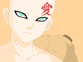 Gaara frowning base by Furipa93