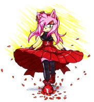 Amy Rose - Autumn Rose Petals by Amortem-kun