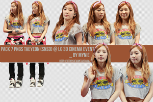Pack 7 PNGs Taeyeon (SNSD) @ LG 3D Cinema even by bttmy