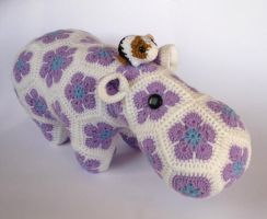 Happypotamus (OOAK) by LunasCrafts
