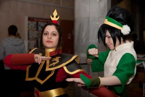 Toph and Azula by TophWei