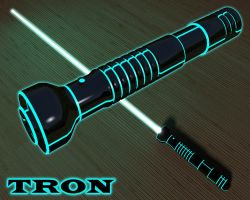 TRON Lightsaber by kytjunon