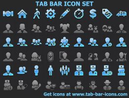 Tab Bar Icon Set by shockvideo