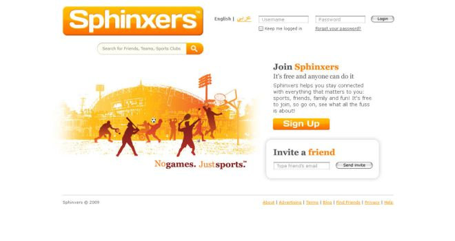 Sphinxers Sign Up Page by sklp