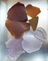 Sea Glass 1-10 Brown + Purple by sojourncuriosities