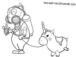 Mini Pyro Lineart by who-said-that
