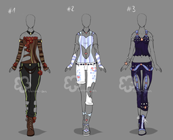 Some Outfit Adopts #22 - sold by Nahemii-san