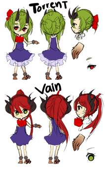 Torrent And Vain Reference by Steamed-Bun
