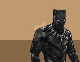 Black Panther MCU Fan art by straysketch