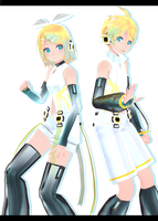 Tda Crystal Kagamine Rin/Len :-: Models Dl :-: by Ichigo-Crown