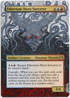 Magic Card Alteration: Etherium-Horn Sorcerer by Ondal-the-Fool