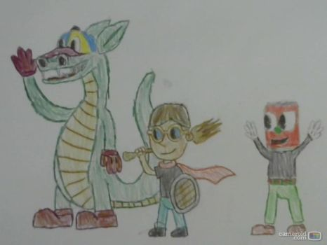 [Rubber-Hose Style] Dirky, Canhead, and Cap Dragon by Derek-the-MetaGamer