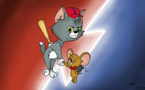 Small Tom and Jerry (RQ) by MaryFunArts