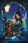 Gamora and Rocket Racoon by Dawn-McTeigue