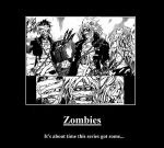 Zombies demotivational by Miyanoai