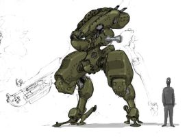 Dieselpunk Mecha by genocidalpenguin