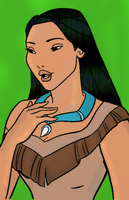 Pocahontas Coloring Page Colored by Writer-Colorer