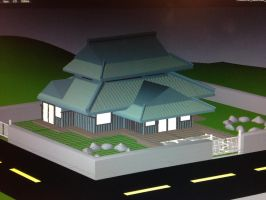 Traditional Japanese Housiong ~3D Art~ by MLP-Gear