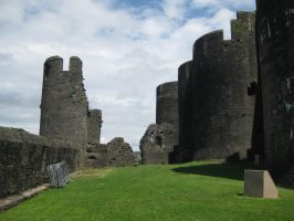 Caerphilly Castle 7 by Hrivalasse-stock