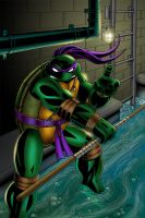 TMNT Donatello Colored by CliffEngland