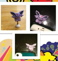 Espeon earphone dust plug by madster865