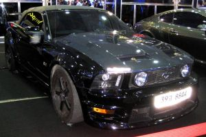 Black Mustang GT Convertible by toyonda