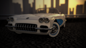 Chevrolet Corvette Convertible Evening by sTa0114