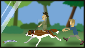 Chris Kratt, Martin Kratt and Heidi by RicoRob