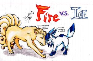Fire vs Ice by bshadow93