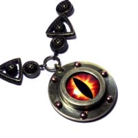 Steampunk Jewelry - NECKLACE - Red Fire Dragon by CatherinetteRings