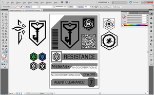Ingress Agent Badge Template (Vector) by MisterAlex