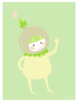 Ophelia, Our Onion Friend by liljeska