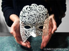Dreamer Half-Mask: Illumination (3D Printed) by Lumecluster