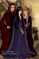 For Kendra711: Zarconia Garnet and Aquatia by SupernovaSword
