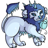 Ice Lion by Bumbleon