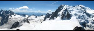 Panoramic Glaciers by BloodyAenora