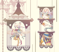 [CLOSED] Adoptable 1: Candy Carousel by oreofluff